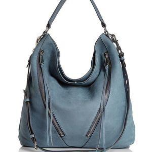 Rebecca Minkoff Moro Hobo Bag - Dusty Blue